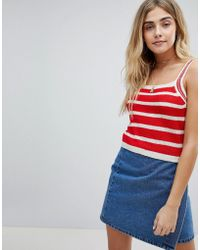 Honey Punch - Cami Top In Stripe Knit - Lyst