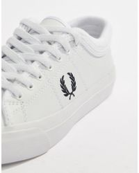 Fred Perry - Kendrick Leather Trainer With Rib Detail - Lyst