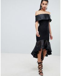 The 8th Sign - The Bardot Dress With Contrast Fishtail Detail - Lyst