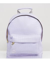 Mi-Pac - Exclusive Faux Croc Mini Backpack In Lilac - Lyst