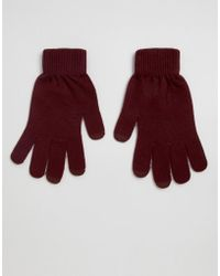 ASOS Touch Screen Gloves In Recycled Polyester - Red