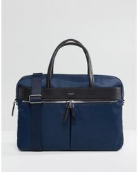 Knomo - Mayfair Hanover Briefcase With Laptop Compartment With Rfid Protection Lined Pockets - Lyst