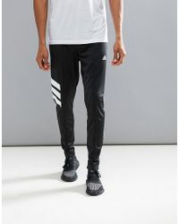 adidas - Tango Skinny Joggers In Black Az9709 - Lyst