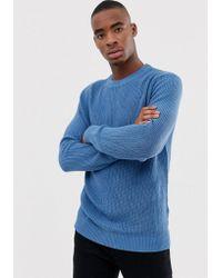 Bershka - Knitted Jumper In Light Blue - Lyst