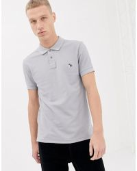 c34fba881 PS by Paul Smith Twin Tipped Ps Logo Long Sleeve Polo Shirt In Grey ...