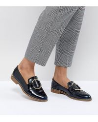 ASOS - Design Magenta Leather Loafers - Lyst