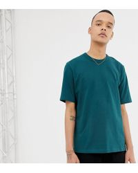 ASOS - Tall Loose Fit Heavyweight T-shirt In Dark Green - Lyst