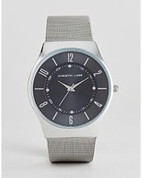 Christin Lars - Mesh Strap Watch With Black Dial - Lyst