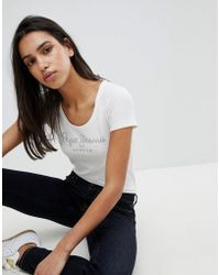 Pepe Jeans - Studded Heritage Logo T-shirt - Lyst