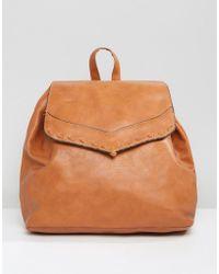 Liquorish - Drawstring Backpack With Foldover Flap - Lyst