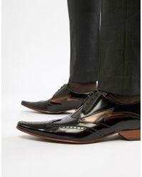 Jeffery West Chaussures à motif éclair contrastant - Marron