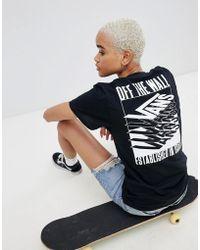 Vans - Black Stacked Back Print T-shirt - Lyst