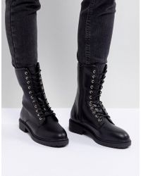 Faith - Lace Up Mid Height Hiker Boot - Lyst