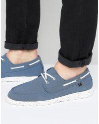 Farah - Clegg Canvas Boat Shoes - Lyst