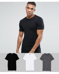 4f813094 Lyst - ASOS Longline Extreme Muscle Fit T-shirt With Crew Neck In ...