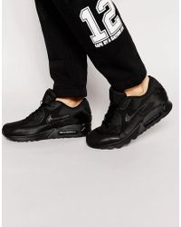 official photos 84b62 ce6f9 Nike - Air Max 90 Essential Trainers In Black 537384-090 - Lyst