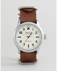 Barbour - Bywell Watch With Tan Strap - Lyst