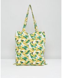 Vero Moda - Banana Print Tote Beach Bag - Lyst