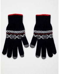 Glen Lossie - Lambswool Fairisle Touchscreen Gloves - Lyst