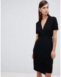 UNIQUE21 - Unique 21 Short Sleeve Wrap Dress - Lyst