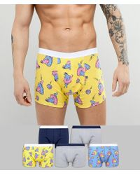 ASOS - Design Trunks With Dolphin Print 5 Pack Save - Lyst