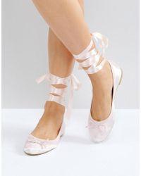 Vero Moda | Tie Up Ballerina Court Shoes | Lyst