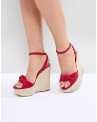 Miss Kg - Piper Wedge Sandals - Lyst