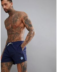 North Sails - Volley Swim Short With Logo In Navy - Lyst