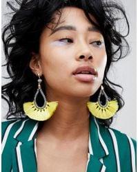 Pieces - Statement Tassel Earrings - Lyst