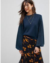 Free People - Let It Shine Oversized Knit Jumper - Lyst