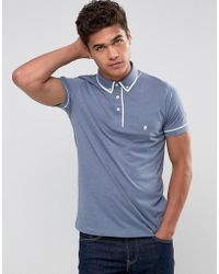 French Connection - Short Sleeve Piping Polo Shirt - Lyst