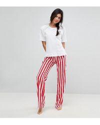 ASOS - Embroidered Espresso Yourself Trouser & Tee Pyjama Set - Lyst