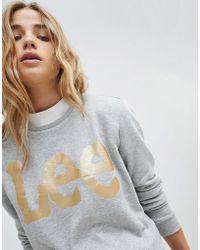 Lee Jeans   Lee Metallic Logo Sweatshirt   Lyst