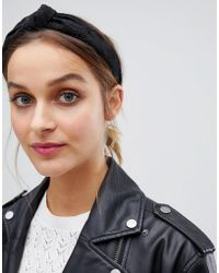 Stradivarius - Plain Black Headband - Lyst