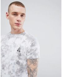 Brooklyn Supply Co. - Robot Embroidered Tie Dye T-shirt - Lyst