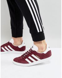 adidas Originals - Gazelle Trainers In Burgundy Bb5255 - Lyst