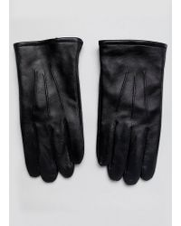 ASOS - Leather Gloves In Black With Touchscreen - Lyst