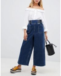 ASOS - Wide Leg Jeans With Elasticated Waistband - Lyst