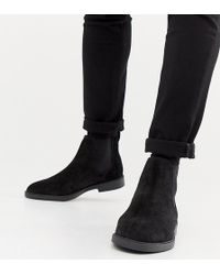 Pull&Bear - Suede Chelsea Boots In Black - Lyst