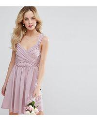 ASOS - Wedding Drape Front Mini Dress - Lyst