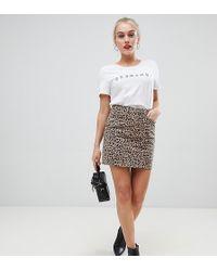New Look - Mom Skirt In Leopard Print - Lyst