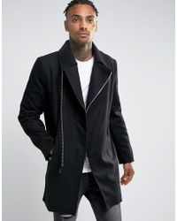 Criminal Damage - Asymetric Overcoat - Lyst