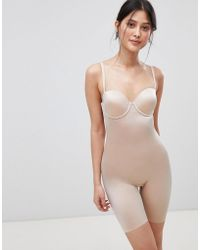 Spanx - Suit Your Fancy Underwired Mid Thigh Smoothing Body - Lyst