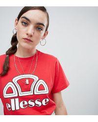 Ellesse - Boyfriend T-shirt With Chest Logo - Lyst