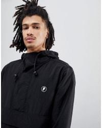 FairPlay - Tillman Overhead Jacket With Back Print In Black - Lyst