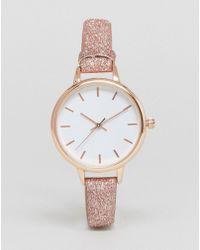 New Look - Glitter Skinny Strap Watch - Lyst