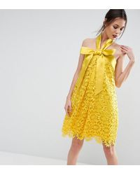 ASOS   Salon Aline Lace Mini Dress With Bow Detail   Lyst
