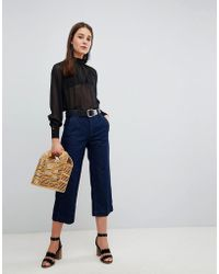 New Look - Wide Leg Crop Jeans - Lyst