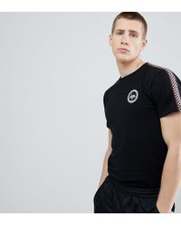 Hype - T-shirt With Checker Side Stripe Exclusive To Asos - Lyst