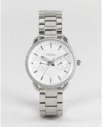 Fossil - Es4262 Tailor Bracelet Watch In Silver 35mm - Lyst